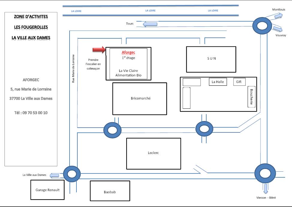 Plan accès Aforgec